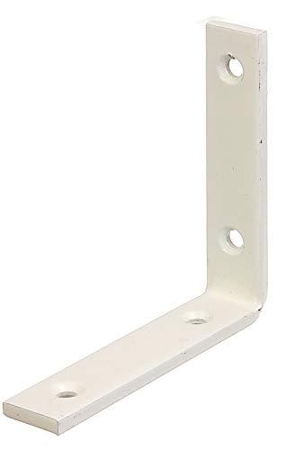 GAH-Alberts 333126 Balkenwinkel | schmal | weiß kunststoffbeschichtet | 100 x 100 x 20 mm