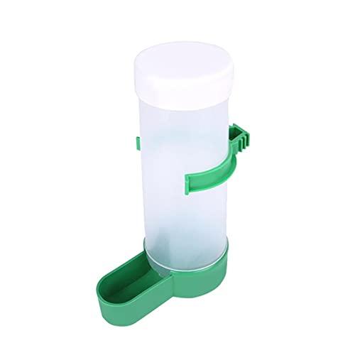 xldiannaojyb 1pcs Bird Water Drinker Feeder Automatic Drinking Fountain Pet Parrot Cage Bottle Drinking Cup Bowls Pet Bird Supplies Dispenser (Color : White, Size : XL 13.3x4.4cm)