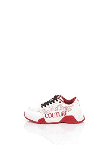Versace Couture Scarpe Sneakers Uomo E0YWASF3 Bianco-Rosso (Numeric_42)