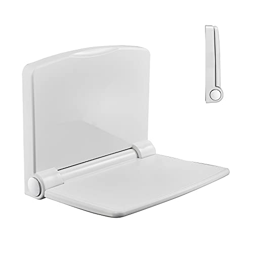 Wall Mounted Folding Shower Seat/Shoes Changing Stool Bench/Shower Stool/Shower Chair/Shower Bench for Inside Shower Bathroom, Chrome, Supports up to 400 lbs. (Style A)