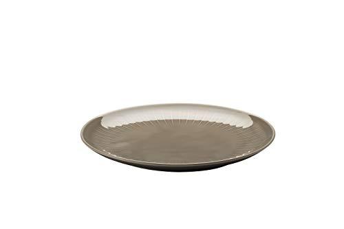 Arzberg Joyn Grey 27 cm bord plat, porselein, grijs, 27 x 26 x 8 cm