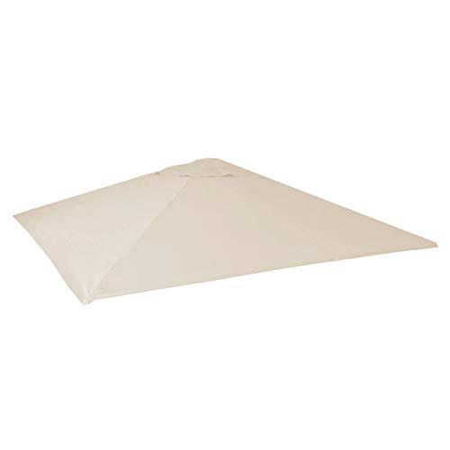 Mendler Bezug für Gastronomie Sonnenschirm HWC-D20, Sonnenschirmbezug Ersatzbezug, 5x5m (Ø7,2m) Polyester ~ Creme