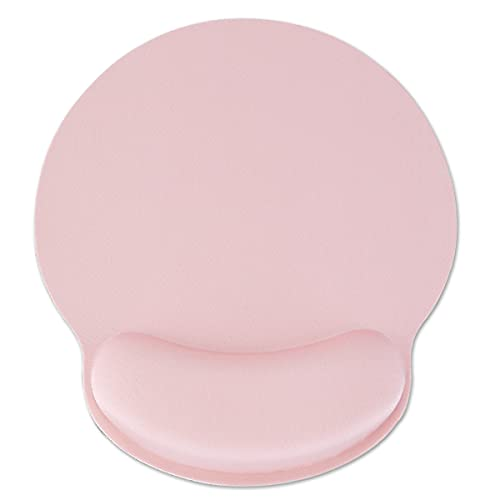 Ceavmlsr Ergonomic Light Pink Mouse Pad with Wrist Support for Laptop, Small Gaming Mouse Pad with Memory Foam for Wireless Mouse, Wrist Rest Mousepad Helps Relax Your Wrist (Light Pink)