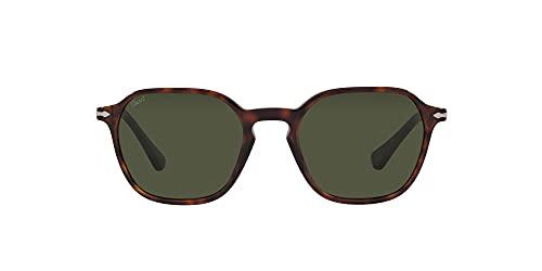 Persol Gafas de Sol PO 3256S Havana/Green 51/20/145 unisex