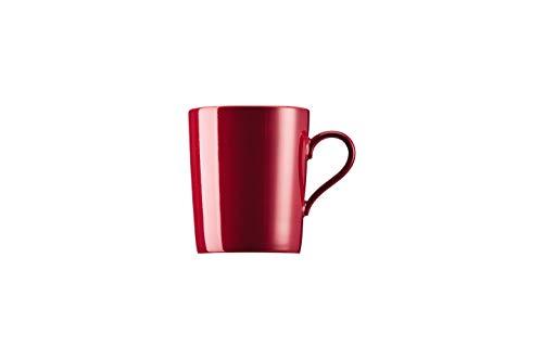 Arzberg 49700-640151-15505 Tric - Becher mit Henkel/Henkelbecher/Kaffeebecher - Amarena/Rot