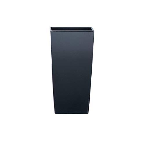 Prosperplast Maceta Alta 16,3 L Urbi Square de plástico con depósito en Color Antracita, 55 (Alto) (Ancho) x 29,5 (Profundo) cms, 55 cm