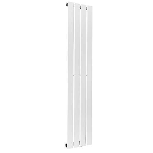Aquamarin® Radiateur Vertical - à Panneau Plat Simple ou Double, Acier, Blanc, Taille au Choix - Chauffage Centrale pour Salle de...