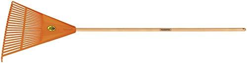 Tramontina Kunststoff Laubbesen, sehr stabil, 22 Zinken, Länge 156 cm, Holzstiel, Holz