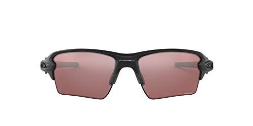Oakley Men's OO9188 Flak 2.0 XL Rectangular Sunglasses, Matte Black/Prizm Dark Golf, 59 mm
