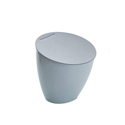 NYKK Bote de Basura Bote de Basura para el hogar Cocina del hogar Sala de Estar Mini Basurero de Almacenamiento Papelera (Color : Gray)