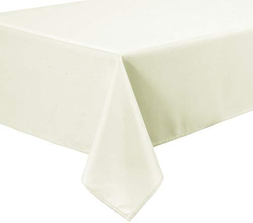 Home Direct Qualitäts Tischdecke Textil Eckig 150 x 250 cm, Farbe wählbar (Crème)