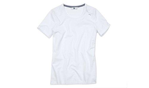 Original BMW Damen T-Shirt Rundhals in Weiß - Größe M