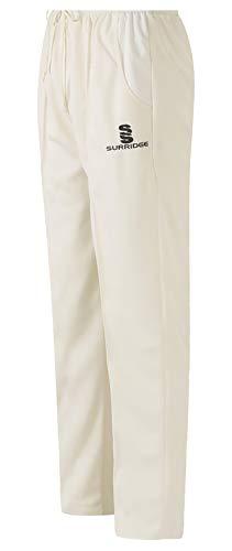 Surridge Sports Herren Cricket Hose, weiß, Größe S