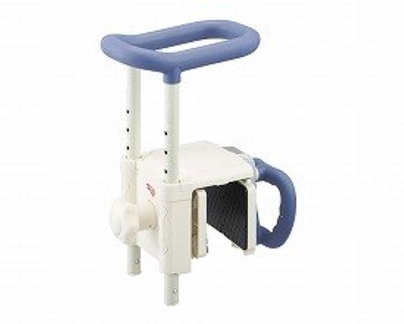 癌赤ちゃんインペリアルアロン化成 安寿 高さ調節付浴槽手すり UST-130R ブルー
