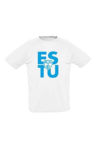 Movistar Estudiantes Camiseta Casual Estu Blanco-Celeste 20-21, Unisex Adulto, 2XL