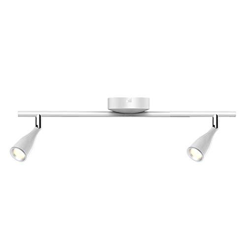 CGC Wit Binnen Instelbaar Twin Plafond Spot LED Bar Licht in 4000k Natuurlijk Wit Kleurtemperatuur Slaapkamer Keuken Lounge Eetkamer Dubbel