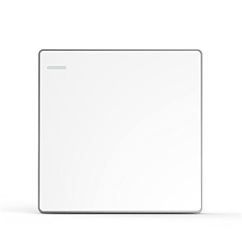 Ploutne 3C Certified Simple Switch, interruptor de iluminación de tipo casero, interruptor de luz de pared 1-Gang 1-Way Switch de luz eléctrica, interruptor de pared que no se deforma fácilmente, inte