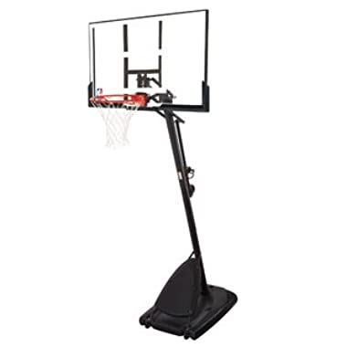 Spalding Pro Slam Portable NBA 54  Angled Pole Backboard Basketball System ((Black))