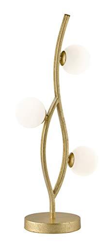 WOFI - Lámpara de interior para salón, lámpara de mesa, lámpara de mesa, lámpara, dorada, plástico, 84 W, color dorado