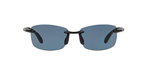 Costa Del Mar Men s Ballast Rectangular Sunglass Readers, Shiny Black Grey Polarized C-Mate-580P, 60 mm + 2
