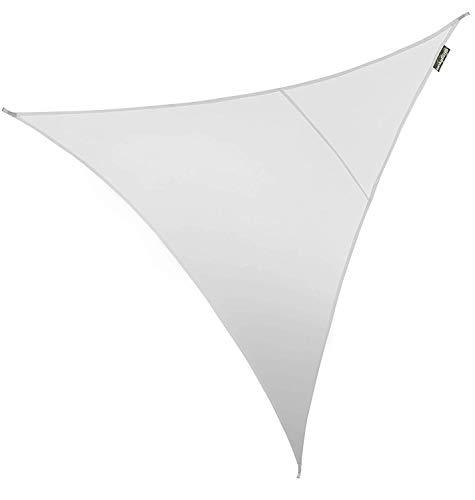Kookaburra Toldo Vela Triangular 5,0m Transpirable Económico 185g/m² Poliéster Protección Solar 90% Anti UV para Exteriores, Patios, Jardines, Terraza, Balcón (Blanco Polar)