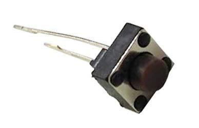 Movilideas - 10x Micro Pulsador SWITCH 6x6x5 mm PCB 2 PINES LARGOS ideal para Protoboard