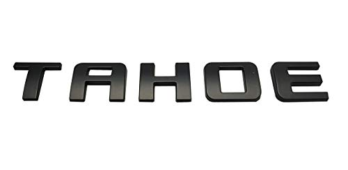 1x Matte Black New Tahoe Nameplate Emblems ABS Letter Badge Replacement for Gm 07-16 Tahoe