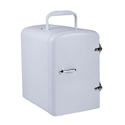 Mini Nevera 4 litros,nevera pequeña,Mini refrigerador portátil,Cool Hot Dual Use,para el Cuidado de la Piel para Almacenamiento de Maquillaje, refrigerador de Belleza portátil,Blanco