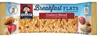 Quaker Oats Foods Breakfast Flats Crispy Snack Bars - Individually Wrapped, No Artificial Flavor, No Artificial Color - Cranberry Almond - 7 oz - 9 / Box