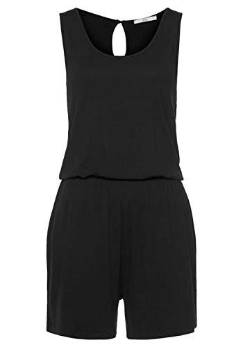 edc by ESPRIT Damen 050CC1L313 Overall, 001/BLACK, XL