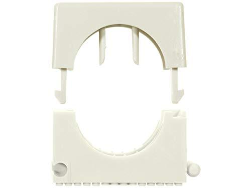 fischer Schelle SCH 812, Elastische Federzunge, Aufnahme von unterschiedlichen Kabeldurchmessern, Koppelung von bis zu drei Rohrclips, 100 Stück