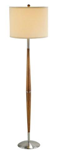 Adesso 3341-13 Hudson Floor Lamp, 61 in, 150 W Incandescent/equiv. CFL, Maple Eucalyptus Wood, 1...