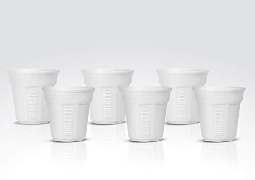 Bialetti Y0TZ502 6 Espressobecher, Porzellan, weiß, 23.7 x 14 x 7 cm, 6-Einheiten