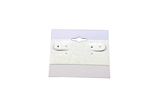 Regal Pak gris Plain Haning pendientes tarjeta (100piezas en un paquete) 2'x 2'