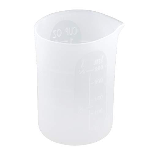 LOVIVER Tazas de Mezcla de Medición de Silicona 250ml Herramientas de Fabricación de Joyas de Resina Líquida DIY