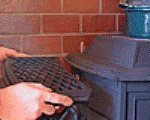 薪ストーブアクセサリー ウォーミングシェルフ アンコール・エヴァーバーン用 クラシックブラック 0200