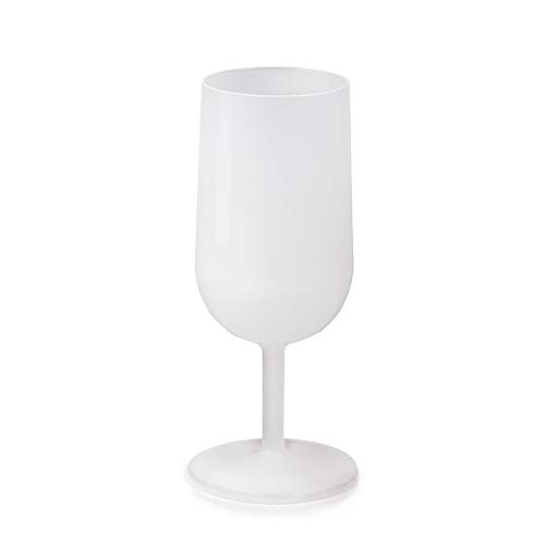 LE PETIT FOURNISSEUR - 50 Verres à Vin Réutilisables 12cl - Plastique Polypropylène Rigide - Couleur Givrée