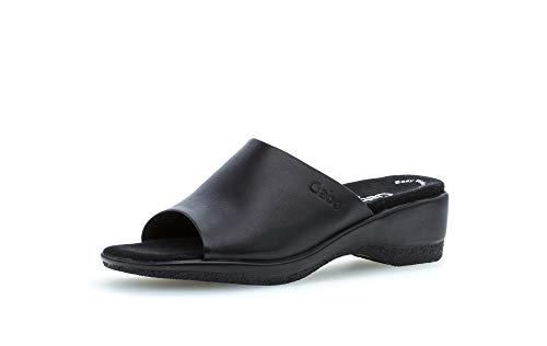 Gabor Damen ClogsPantoletten, Frauen Clogs,Comfort-Mehrweite, Damen Frauen weibliche Lady Ladies feminin elegant Women's Women,schwarz,38 EU / 5 UK