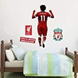 Liverpool FC - Mo Salah Celebration Player Decal + LFC Wall Sticker Set (120cm Height)