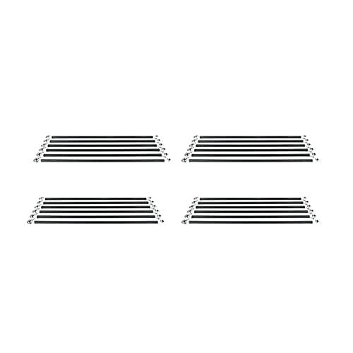Accessori per stampanti di alta qualità 6 pezzi/set Manipolatore parallelo Kit asta in carbonio Fisheye Adatto per viti Accessori per parti stampante 3D Kossel Delta (Colore: M3 20CM) (Colore: M3 20