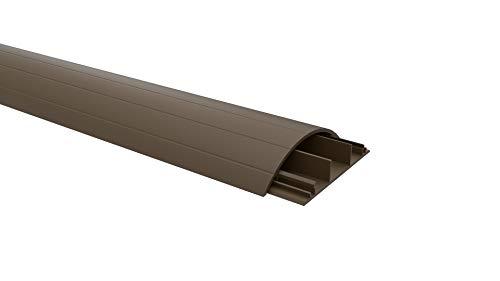 Habengut Fußboden-Kabelführung aus PVC Braun, halbrunde Kabelbrücke für bis zu 3 Kabel / Breite 7,5 cm, Länge 1 m