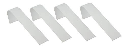 Paquete de 4 rampas de piel sintética para exhibir pendientes, joyas, mostrador, presentación
