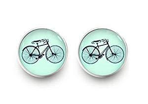 Fahrrad-Ohrringe, Fahrrad-Ohrstecker, Schmuck.