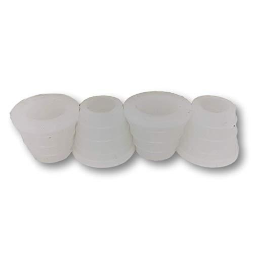 EKNA Shisha Gummidichtungen groß - 4 Stück Dichtungen Set - Silikondichtung Shisha - Wasserpfeife-Dichtung - Tonkopf-Dichtung