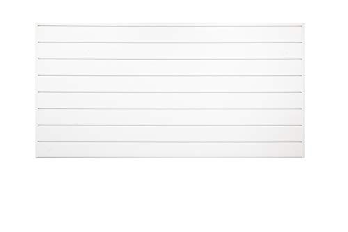 Crownwall Home -Series Heavy Duty PVC Slatwall Organizer Kit - 6 Inch (White, 8ft x 4ft)