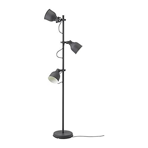 Lámpara de Pie Lámparas de pie industrial para sala de estar con 3 bombillas, mediados de siglo 69 'Lámpara de pie de alta lectura con brazos ajustables, lámparas de piso modernas para dormitorios par