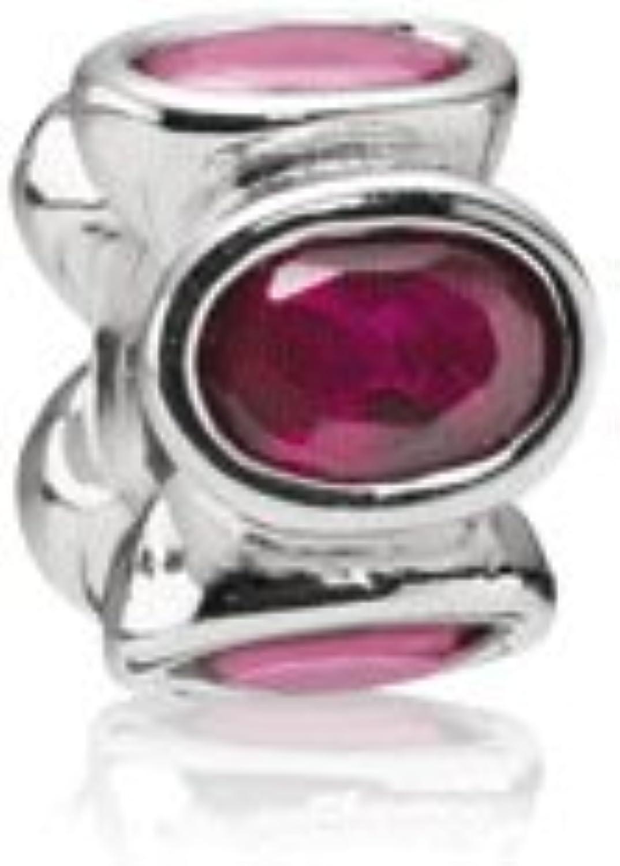 KDESIGN 925 Silver Threaded Screw Bead Pink Ovals CZ Charm Fits European Design Bracelets
