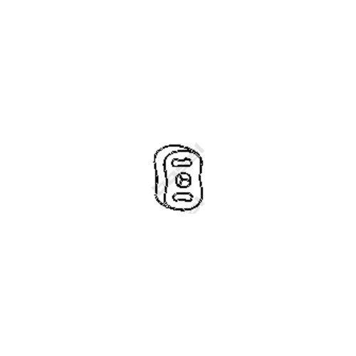 Bosal 255-024 Butée élastique, silencieux