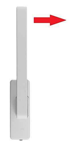 GU Schiebetür PSK Drehgriff DIRIGENT 966/976 DIN Links weiss mit Aussperrsicherung incl. SN-TEC Montageschlüssel