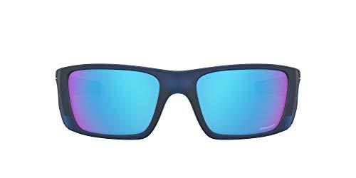 Ray-Ban heren 0OO9096 zonnebril, zwart (mat doorschijnend blauw), 60.0
